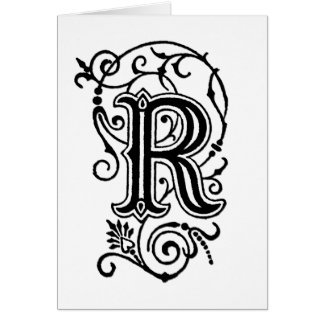 Letra decorativa de R Tarjeta