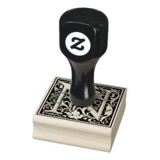 Letra decorativa N del monograma Sello De Caucho