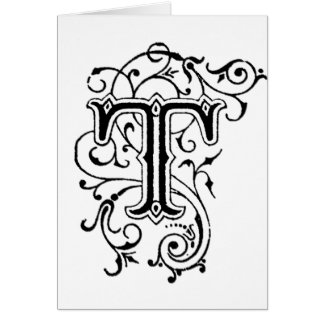 Letra decorativa T Tarjetón