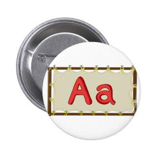 Letra del alfabeto chapa redonda 5 cm