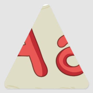 Letra del alfabeto pegatina triangular
