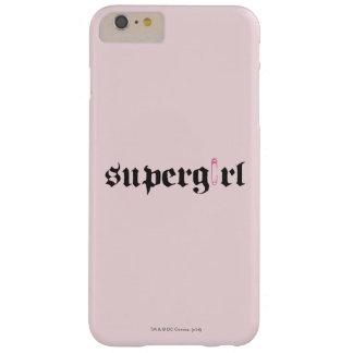 Letra del Pin de seguridad de Supergirl Funda Para iPhone 6 Plus Barely There