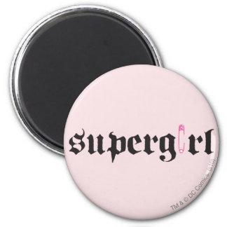 Letra del Pin de seguridad de Supergirl Imán Redondo 5 Cm