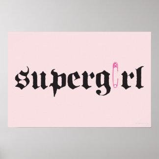 Letra del Pin de seguridad de Supergirl Póster