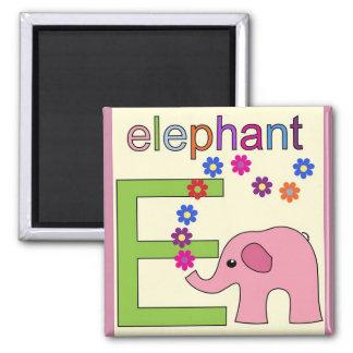 """""""Letra E"""" si para el imán del elefante"""