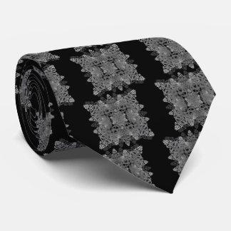 letra e-uno-espejo-hoja-negro-blanca corbata personalizada