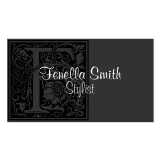 """Letra """"F """" del vintage Plantillas De Tarjetas Personales"""