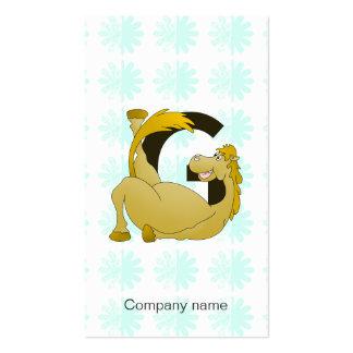Letra G del monograma del potro personalizada Tarjetas De Visita