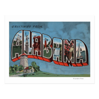 Letra grande (azul) ScenesAlabama de Alabama Postal