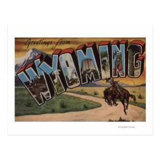 Letra grande ScenesWyoming de Wyoming (vaquero) Postal
