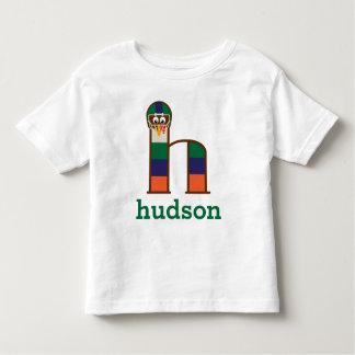 Letra h de la camisa del fútbol de la acción de