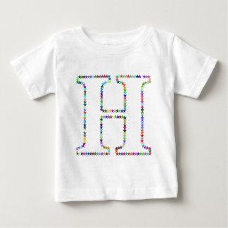 Letra H de la estrella del arco iris Camiseta De Bebé