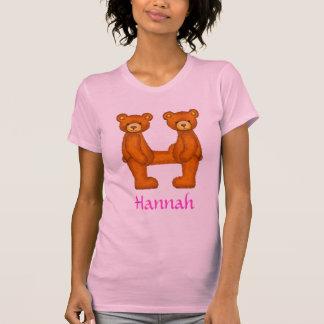 Letra H Initial~Custom Name~Shirt del alfabeto del Camiseta