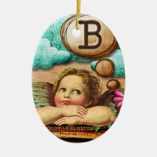 letra inicial B de la querube del ángel de las ilu Adorno