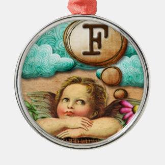letra inicial F de la querube del ángel de las ilu Ornamentos De Navidad