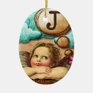 letra inicial J de la querube del ángel de las ilu Ornamentos Para Reyes Magos
