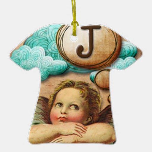 letra inicial J de la querube del ángel de las ilu Ornamente De Reyes