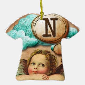 letra inicial N de la querube del ángel de las ilu Ornato