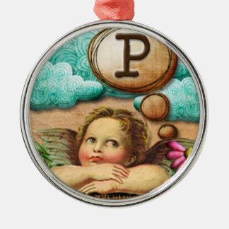 letra inicial P de la querube del ángel de las ilu Ornamente De Reyes