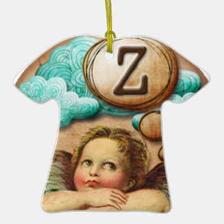 letra inicial Z de la querube del ángel de las ilu Ornamentos De Navidad