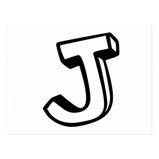 Letra J Postal