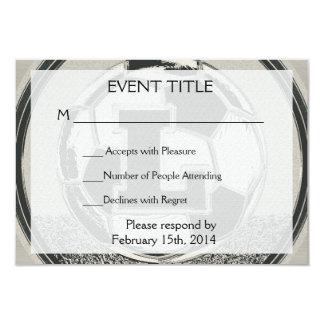 Letra L del monograma del fútbol del medallista de Invitación 8,9 X 12,7 Cm