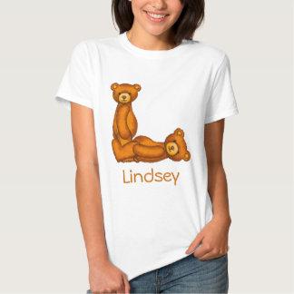 Letra L Initial~Custom Name~Shirt del alfabeto del Camisetas