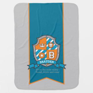 Letra la manta conocida de encargo del bebé del mantas de bebé