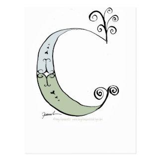 Letra mágica C del diseño tony de los fernandes Postal