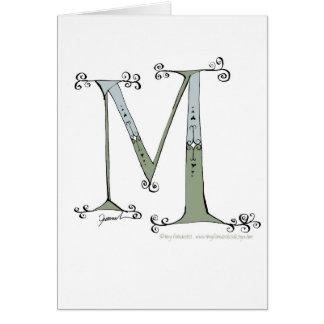 Letra mágica M del diseño tony de los fernandes Tarjeta De Felicitación