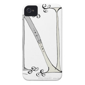 Letra mágica N del diseño tony de los fernandes Funda Para iPhone 4 De Case-Mate