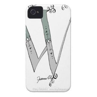 Letra mágica W del diseño tony de los fernandes Carcasa Para iPhone 4 De Case-Mate