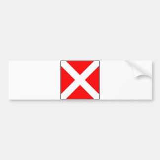 letra marítima 4 del número cuatro de la bandera pegatina para coche