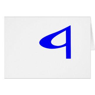 "Letra musical ""a"" en un fondo transparente tarjetas"