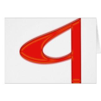 Letra musical un color rojo vibrante tarjeta de felicitación