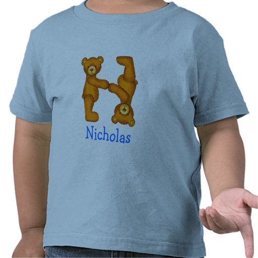 Letra N Initial~Custom Name~Shirt del alfabeto del Camisetas