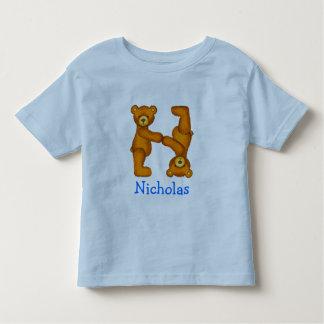 Letra N Initial~Custom Name~Shirt del alfabeto del Camiseta