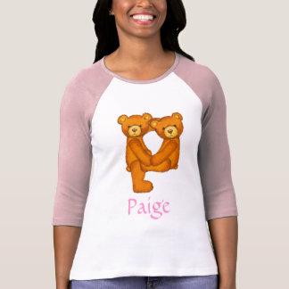 Letra P Initial~Custom Name~Shirt del alfabeto del Camisetas