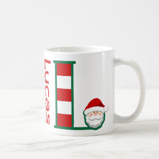 Letra personalizada taza L de la taza del navidad