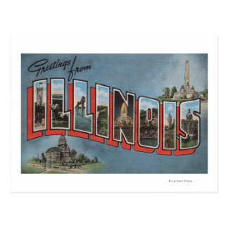 Letra ScenesIllinois de IllinoisLarge Postal