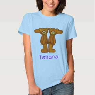 Letra T Initial~Custom Name~Shirt del alfabeto del Camiseta