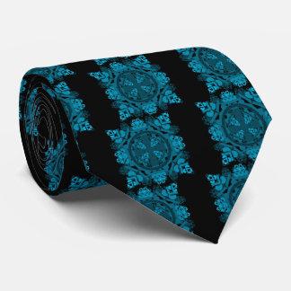 letra uno-d-espejo-hoja-azul corbatas personalizadas