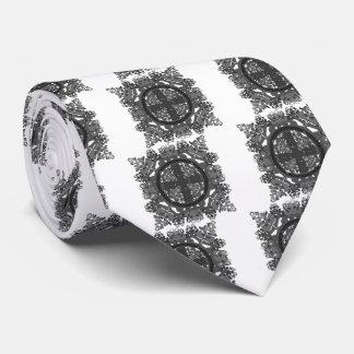 letra uno-d-espejo-hoja-negro-blanca corbata