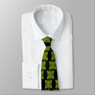 letra uno-e-espejo-hoja-verde corbata personalizada