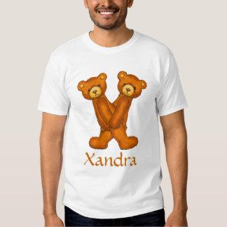 Letra X Initial~Custom Name~Shirt del alfabeto del Camisas