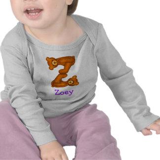 Letra Z Initial~Custom Name~Shirt del alfabeto del Camisetas