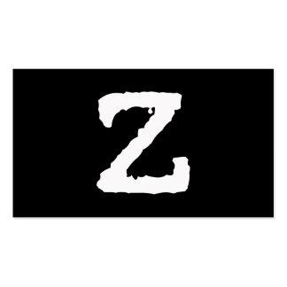 Letra Z Plantilla De Tarjeta De Visita