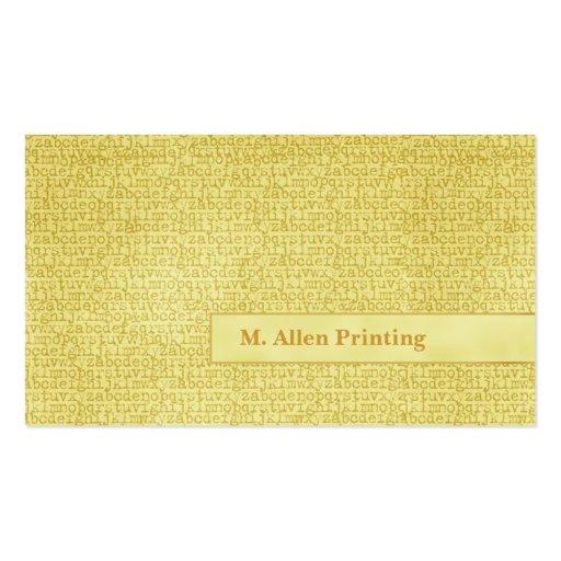 Letras al azar plantillas de tarjeta de negocio