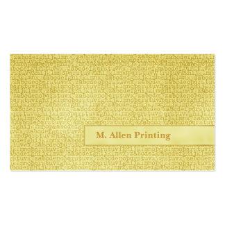 Letras al azar tarjetas de visita