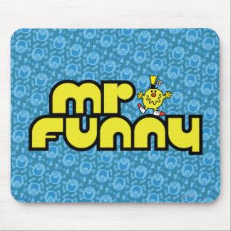 Letras amarillas de Sr. Funny el | Alfombrilla De Ratón